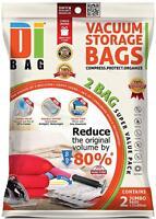 DIBAG Space Saver Vacuum Storage Bags - 2 Premium Travel Space Bags