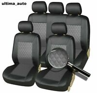 Leatherette Front & Rear Car Seat Covers Set FOR NISSAN QASHQAI 2010+