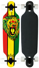 KROWN ELITE LONGBOARD RASTA 8-ply Maple Drop Through Skateboard