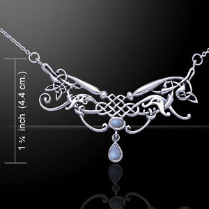 Celtic Knot .925 Sterling Silver Necklace Choice Gem Peter Stone Extraordinary