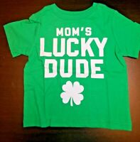 BOYS INFANT TCP MOM'S LUCKY DUDE GREEN SIZE 6-9 MONTHS TEE SHIRT NWT PATRICK