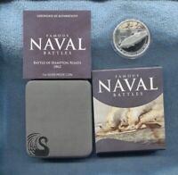 2010 $1 Battle of Hampton Roads 1862 FAMOUS NAVAL BATTLES SILVER PROOF COIN War