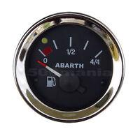 STRUMENTO LIVELLO BENZINA FIAT 500 F/L/R e FIAT 126 - NERO Ø 52 mm - LOGO ABARTH