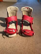 Burton Malavita Large Red ReFlex Snowboard Bindings