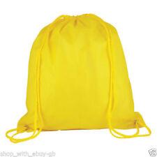 Zaino da uomo in poliestere giallo