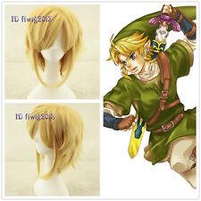 Link The Legend Of Zelda Sky Ward Sword Short Yellow Blonde cosplay Wig CC215