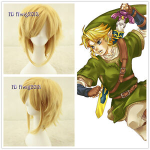 Link The Legend Of Zelda Sky Ward Sword Short Yellow Blonde cosplay Wig CC215
