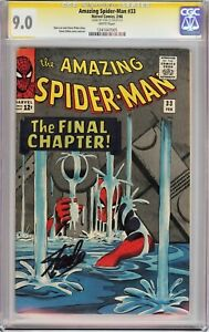 AMAZING SPIDER-MAN #33 (1966) CGC 9.0 SS Signed Stan Lee!! WHITE PAGES!