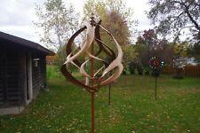 Golden Spiral Windmill, Spinner, Garden Stake, Whirlygig