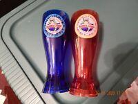 BUBBA GUMP SHRIMP CO. LIGHT UP RESTAURANT & MARKET SET OF TWO DRINK PLASTIC CUPS
