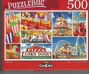 """Puzzlebug """"COUNTY FAIR"""" 500 Piece Jigsaw Puzzle FAST FREE SHIPPING"""