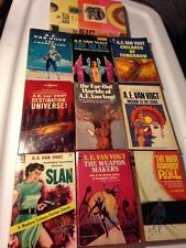 10 Sci Fi Lot A E VAN VOGT 1st Ed SLAN SILKIE WEAPON MAKERS BEAST WINGED MAN
