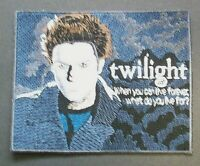 """Twilight, The Motion Picture """"Edward + Quote"""" Embroidered Patch -new"""
