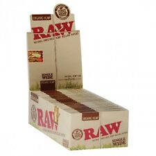 Full Box (50) RAW Single Size Natural Organic Hemp Standard Size Rolling Papers