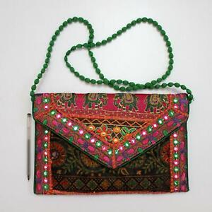 Vintage Tribal Banjara Indian Handmade Ethnic Women Purse Fashion Clutch Bag