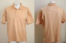 Genuine Wolsey Polo Shirt  Size L Pale Orange Colour Checked Fashion Designer