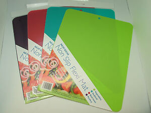 NEAT IDEAS Flexi Mat non slip chopping board 4 colours fish, meat, veg