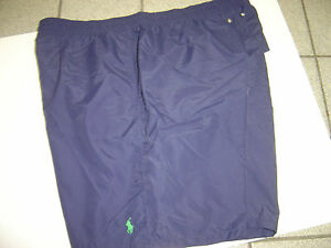 BIG MENS RALPH LAUREN NAVY W/GREEN PONY SWIM TRUNKS-SHORTS SIZE 2X