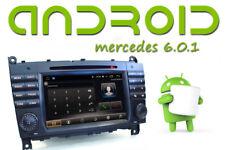 AUTORADIO Android  QUADCORE GPS WiFi Miror PER MERCEDES CLASSE C W203 2004-07