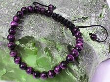 Men's Shamballa bracelet all 6mm TIGER EYE STONE beads