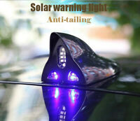 Warning Light Solar Antenna LED Signal Black Anti-tailing Shark Fin Antenna