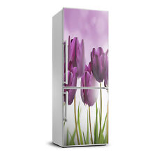 3D Art Refrigerator Wall Kitchen Removable Sticker Magnet Flowers Purple tulips