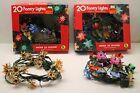 Vtg Christmas Tree Foil & Plastic Light Reflectors Lot of 80 (4 Strings)