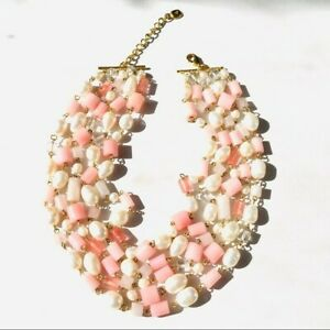 NWOT Ralph Lauren Genuine Pearl & Gemstone Beads Multi-strand Necklace