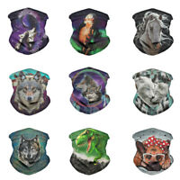 Animals Print Balaclava Outdoor Motor Head Face Tube Scarf Neck Cover Gaiter hot