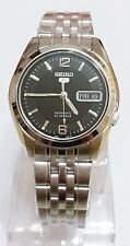 SEIKO 5 SNK393 Stainless Steel Band Automatic Men's Black Watch SNK393K1 New