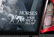 Chevaux-Pass Large & slow-Voiture Fenêtre Autocollant-ralentis Decal cheval signe-V06