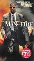 MAN ON FIRE (VHS) Denzel Washington