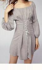 Free People Grey Dress Corset Pirate Style