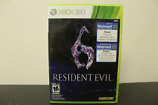 Resident Evil 6  (Xbox 360, 2012) *Tested / With Unopened Character Decals