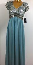 Adrianna Papell V Neck Cap Sleeves SLA Beaded Bodice Gown Size 6 New $380.00