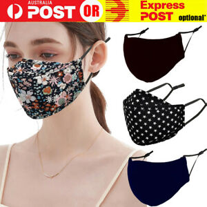 Cotton Adult Unisex Face Mask 3 Layers Washable Comfortable Reusable Protective