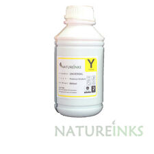 Natureinks 500ml Premium Yellow refill ink bottle for CISS refillable cartridge