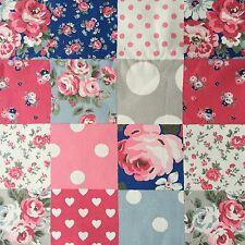 "Cath Kidston Half Yard Cotton Canvas Fabric 56""(145cm) Wide Patchwork DF076"