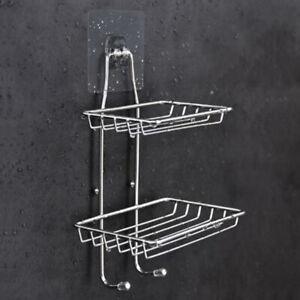 2 Tier Bathroom Shower Caddy Organizer Storage Rack Basket Soap Shampoo Storage