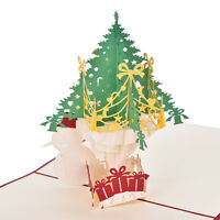 Hot 3D Pop Up Cards Luxury Handmade for Christmas Wedding Birthday Invitations X