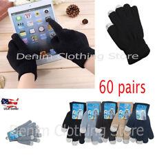 60 Pairs Men's Women Magic Winter Gloves Touch Screen Smart Phone Wholesale Lots