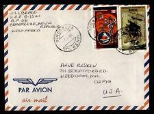 DR WHO 1986 BENIN BIMBEREKE TO USA AIR MAIL C190592