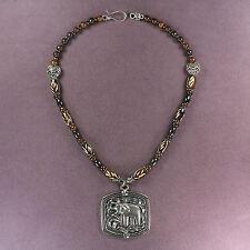 ELEPHANT TOTEM NECKLACE Lucky Talisman Amulet Animal Magick Heart Buffalo Bone