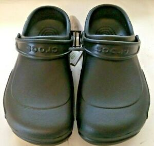 Crocs Specialist Work Clog Black Comfort 10074-001 Men's Size 9 Women's size 11