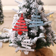 Christmas Wooden Pendant Hanging Xmas Tree Ornaments Home Party Decorations