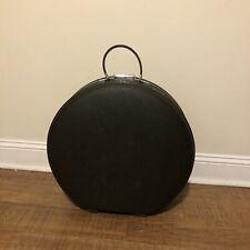 "Vintage American Tourister 20"" Round Tiara Hat Case Dark Olive No Key."