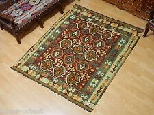 195x164 cm orient Teppich Afghan Turkmen Nomaden Planzenfarbe kelim kilim No:64