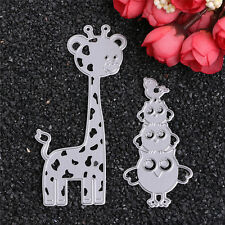 Metal Owl and Deer Cutting Dies Stencil DIY Scrapbooking Diary Template Decor