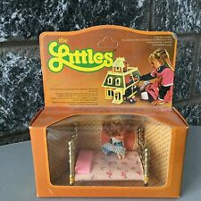 1980# RARE MATTEL THE LITTLES SERIES MINI DOLL+ BED#NIB SEALED BOX