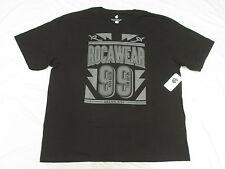 $32 NWT NEW Mens Rocawear T-Shirt Victory 99 Graphic Tee Black Urban 3XB 3X N116